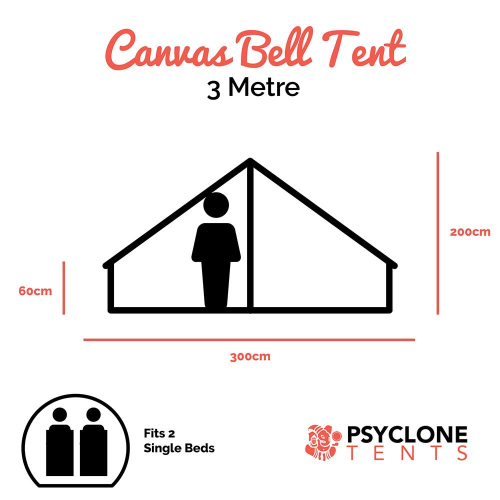 Psyclone Tent - 3 metre dimensions