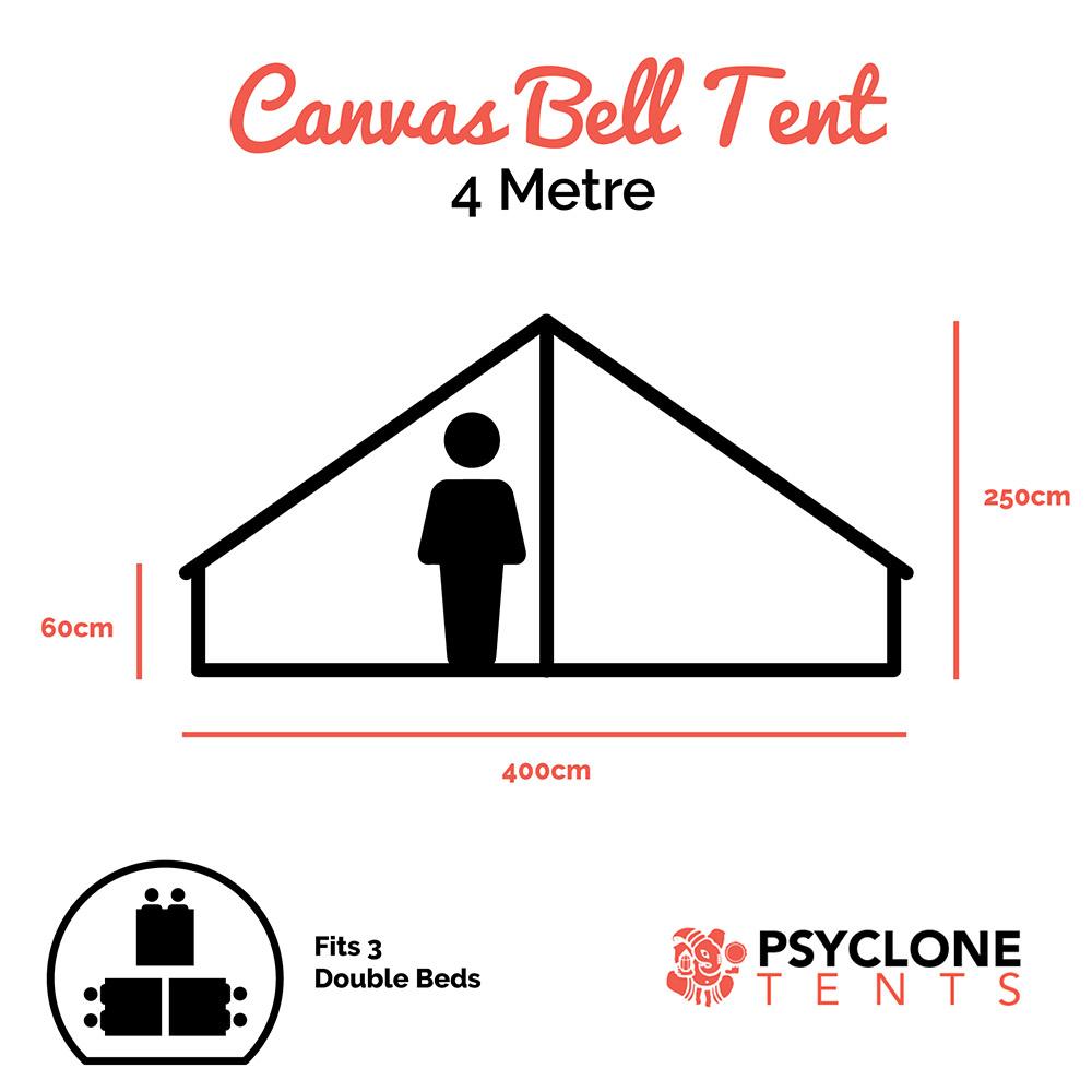 Psyclone Tent - 4 metre dimensions