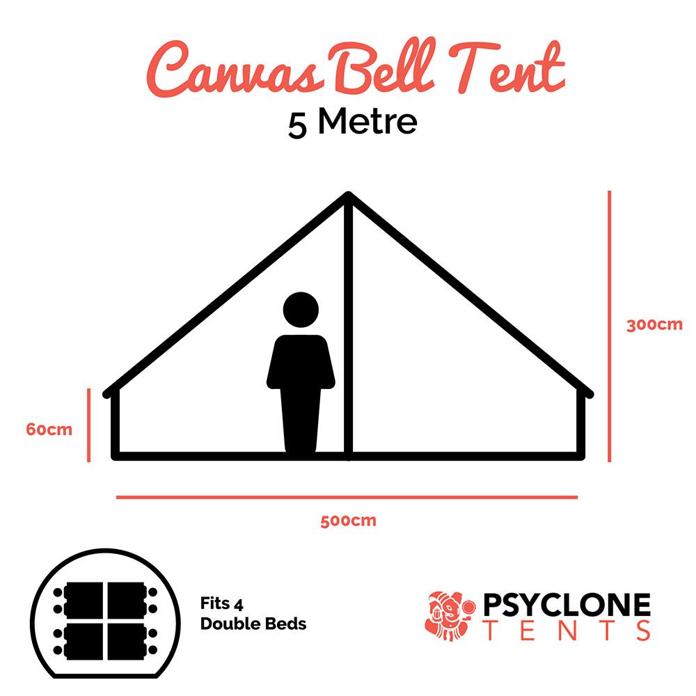 Psyclone Tent - 5 metre dimensions