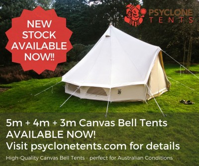 New bell tents in stock